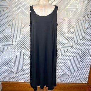 Eileen Fisher Woman Black Sleeveless Jersey Dress